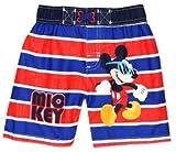 Disney Toddler Boys' Mickey Mouse Stripped Swim Trunk, Royal Blue, 4T
