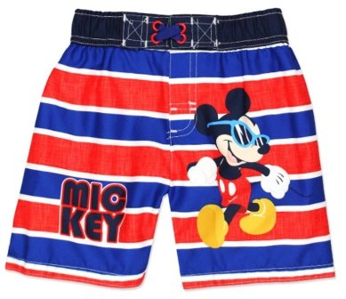 Large Product Image of Disney Toddler Boys' Mickey Mouse Stripped Swim Trunk, Royal Blue, 4T