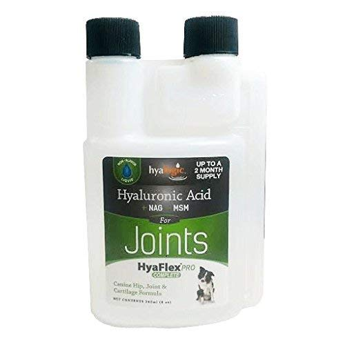Dog Joint Supplement, Canine Joint Support - Hyalogic Hyaluronic Acid Joint Supplement for Dogs -w/ Glucosamine MSM Supplement 30-60 Day Supply, HA, Cartilage Supplement & Dog Coat Supplement