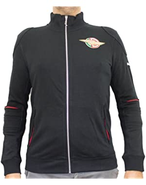 Mens Puma Black Ducati Heritage Sweat Jacket Cardigan