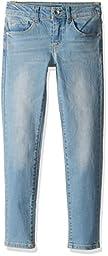 GUESS Big Girls\' 5 Pocket Stretch Denim Power Skinny Jean, Selma Wash, 8