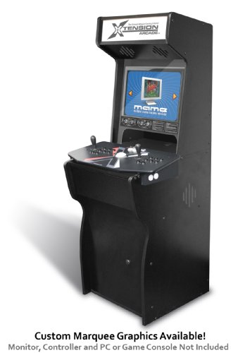 Xtension Arcade Cabinet for X-Arcade Tankstick (Backlit Marquee)