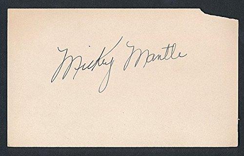 1951 Mickey Mantle Yankees Rookie Vintage Signed Baseball Index Card – JSA Certified