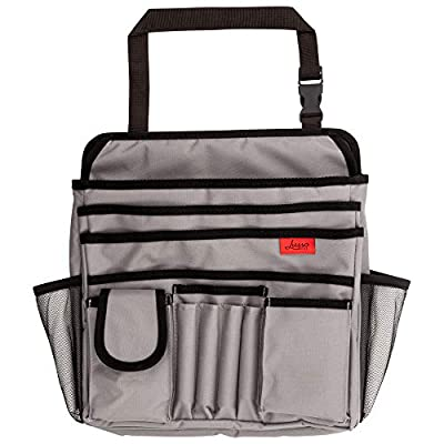 Lusso Gear Car Front Seat Organizer | Fits Any Car/Truck - Storage for Laptop/iPad/Office Supplies & More - Strong & Durable - Mobile/Car Office Organizer - Also for Law Enforcement/Police/Patrol Bag: Automotive