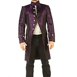 Leatherotics Mens Brocade Jacket Gothic Steampunk Vintage Victorian Style Coat Top SPRR