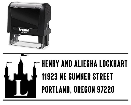 """Self-Inking Return Address Stamps Personalized, Size 7/8"""" x"""