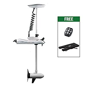 Haswing Cayman 12v 55lbs Electric Trolling Motor Bow Mounted Trolling Motor with Quick Release Bracket/ Quick Mounted Plate (white)