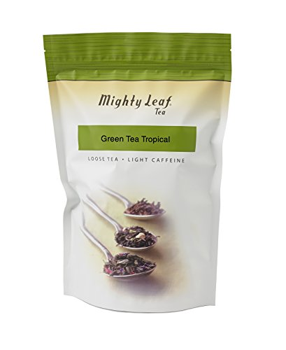(Mighty Leaf Loose Leaf Tropical Green Tea, 1 Pound Pouch Lightly Caffeinated Tropical Green Tea, Delicious as Hot or Iced, Plain or Sweetened w/ Honey or Sugar, Steep with Tea Infuser or Tea Ball)