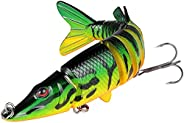 Funzhan Multi Jointed Fishing Lures for Bass Artificial Slow Sinking Bionic Swimbaits Crankbaits Glidebaits Sw