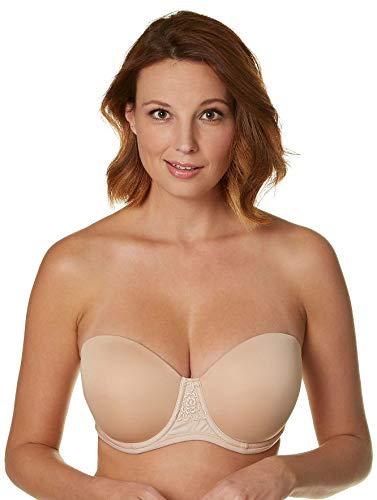 Vanity Fair Women's Beauty Back Strapless Full Figure Underwire Bra 74380, Rose Beige, 38D