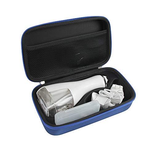 Hermitshell Hard Case Storage Bag for Waterpik Cordless Advanced Water Flosser WP-560 WP-562 (Blue)