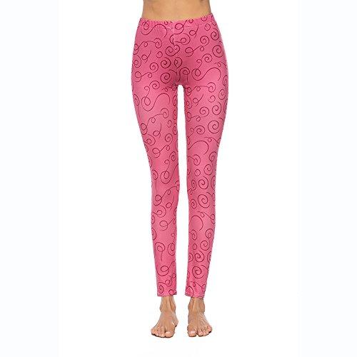 MAOYYMYJK Yoga-Hose Für Damen Sommer 3D Digitaldruck Leggings Frauen Herbst Und Winter Eng Anliegende Jogginghose Yogahosen