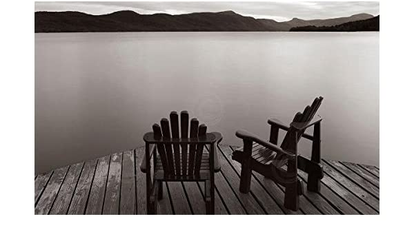 Two Chairs James McLoughlin Photograph Black and White Landscape Canvas 30x20