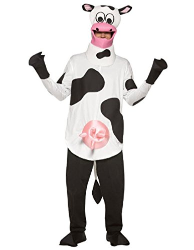 [Rasta Imposta Light Weight Cow Costume, Black/White, One Size] (Cow Hooves Costume)