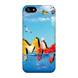 New Style Cases Covers Odg6051PFgB Abstract 3d Compatible With Iphone 5/5s Protection Cases