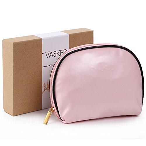VASKER Makeup Bag Pouch Cosmetic Bag for Women Girls (Pink)