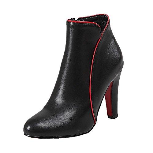 Carolbar Womens Zip Sexy Chic High Heel Short Boots Black Gpr4Y