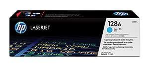 HP 128 - Cartucho de tóner Original HP 128A Cian para HP LaserJet Pro Color CP1525n , CP1525nw HP LaserJet Pro CM1415fn , CM1415fnw