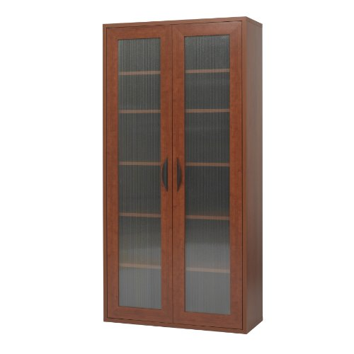 Safco Products 9443CY Apres Modular Storage Tall Cabinet, 2 Door, Cherry