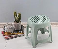 CJX-Step Stools Banco de jardín, Taburete de plástico de Color Antideslizante Fácil de Limpiar Taburete apilable Taburete para Dormitorio Taburete para niños Taburete Multifuncional (Color : G): Amazon.es: Hogar