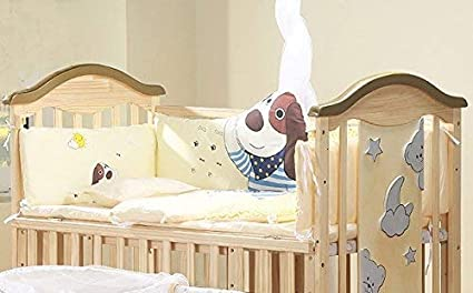 BabyTeddy 9 in 1 Convertible Bruno-The Dog Baby Crib Wooden