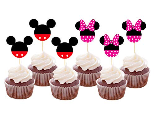 Set of 24 Pieces Cute Mickey Minnie Mouse