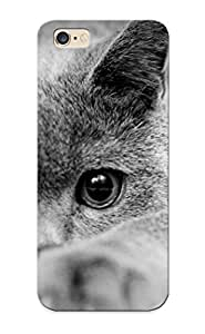 Fashion Protective Black And White Cat Case Cover Design For Iphone 6 Plus