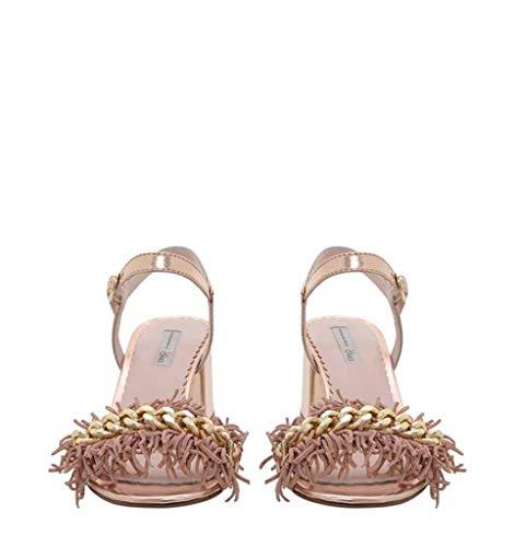 Rame Con Sandalo Catena Frange Pelle Blu Donna In Specchio E Tosca COHvwqx