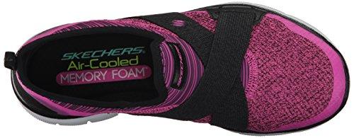 Skechers Womens Flex Appeal New Image Sneaker Hot Pink / Black