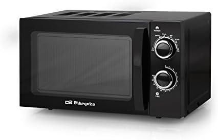 Orbegozo MI 2017 - Microondas sin grill (700 W de potencia, 20 L, 6 niveles de funcionamiento), color negro: Amazon.es: Hogar