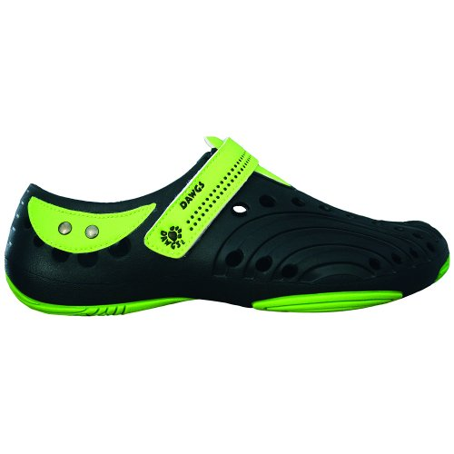 DAWGS Girls Premium Spirit Shoes Navy with Lime Green