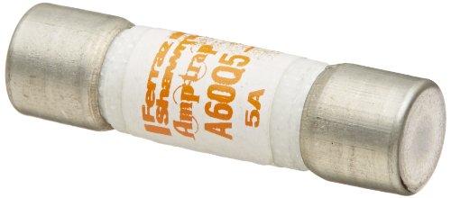 "Mersen A60Q Amp-Trap Form 101 Semiconductor Protection Fuse, 600VAC/VDC, 200kA AC/100kA DC, 5 Ampere, 1-1/2"" Diameter x 13/32"" Length"