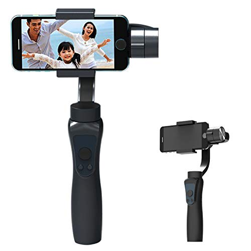 ZRYun 3 Axis Handheld Gimbal Stabilizer for Smartphones, with Time-Lapse & Face/Object Tracking Function, Two-Way Charging & 12h Runtime, 3 Operating Modes