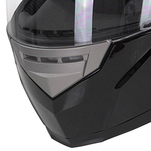 Hawk H-510 Glossy Black Bluetooth Full Face Helmet - Small by Hawk Helmets (Image #3)