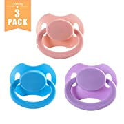Littleforbig Bigshield Gen 2 Adult Sized Pacifier Dummy Bigshield 3 Paci Pack - Pink, Blue, Lavender
