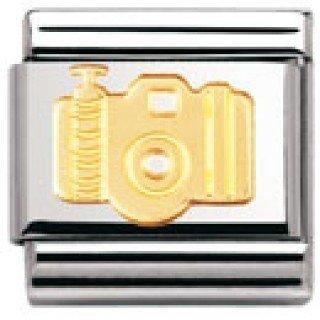 Femme Acier inoxydable et Or jaune 18 cts Nomination Maillon pour bracelet composable 030108