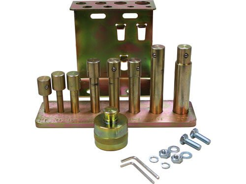 9 pc. Press Pin/Punch Kit With Holder Bracket For Dynamo Air/Hydraulic Shop Presses