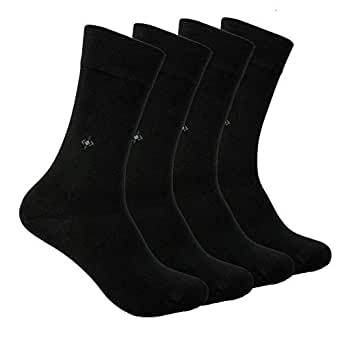 Mens BAMBOO SOCKS - Natural, Antibacterial, Scented, Seamless Soft Touch - Made In TURKEY (Black)