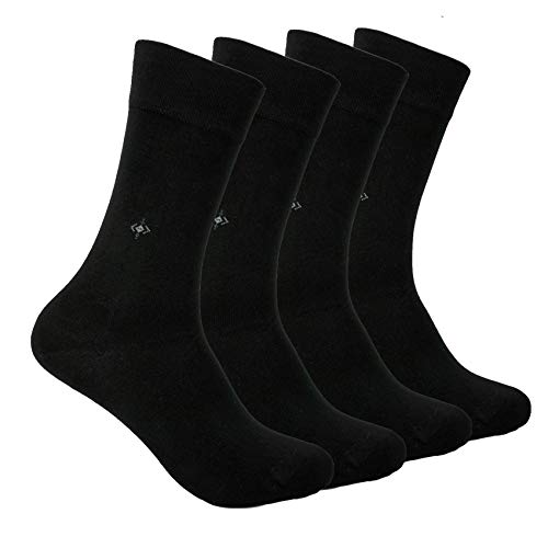 BAMBOO SOCKS Natural Antibacterial Seamless Soft - Made In TURKEY for Men Women (Black)