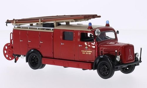 3000 Made Diecast Model - Magirus Deutz S 3000 SLG, volunteer Fire department new Ulm, 1941, Model Car, Ready-made, Lucky The Cast 1:43