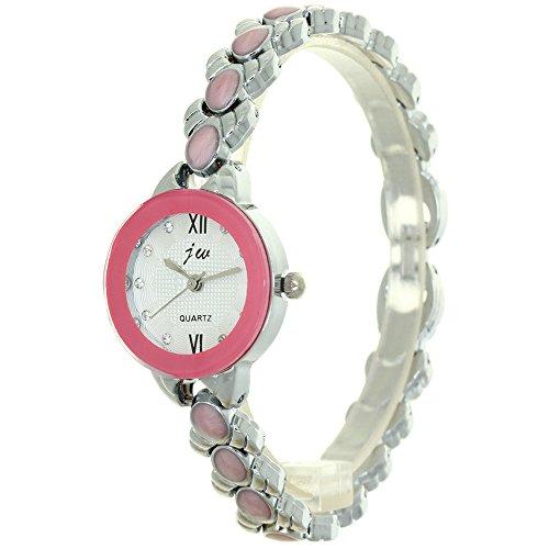 Fashion Luxury Watch Design Quartz Stainless Steel Women Ladies Beaded V Chain Watches