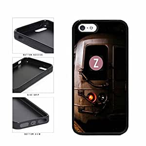 Personalized NYC Train Custom Letter Z TPU RUBBER SILICONE Phone Case Back Cover Apple iPhone 5 5s