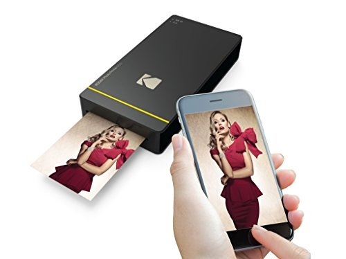 Kodak Mini Portable Mobile Instant Photo Printer - Wi-Fi & NFC Compatible - Wirelessly Prints 2.1 x 3.4 Images, Advanced DyeSub Printing Technology (Black) Compatible with Android & iOS by Kodak (Image #3)