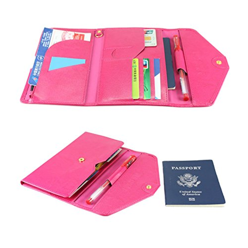 All-In-One Large Capacity RFID Blocking Travel Wallet - Multi-Purpose Passport Holder and Organizer (Hot - Women At Hot Airport