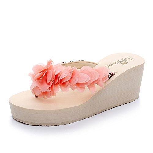 años altos 39 FEI talones playa con la manera de de Zapatillas Antidérapant la Tamaño Fei Color colores femeninos 1001 Chanclas 1001 para 18 5 Sandalias Zapatos Fei los de 40 g7wxfPTq55