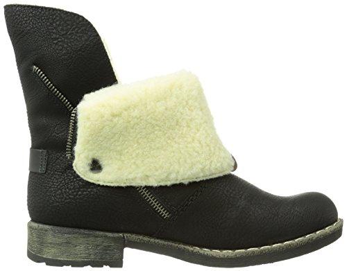 Rieker nero Bianco Womens 00 00 Nero Black Castagna 7468900 Boot AWqrRwpAP