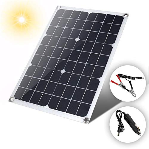 (Zinnor 20 Watt Semi Flexible Solar Panel Battery Charger Controller Kit+ Controller, 18V)