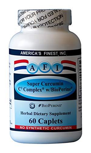 AFI Super Curcumin C3 Complex w BioPerine, 95 , 1000mg, 60 caplets