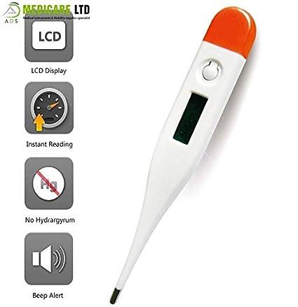 ADS Medicare - Termómetro digital para bebés con pantalla LCD para uso doméstico y médico,