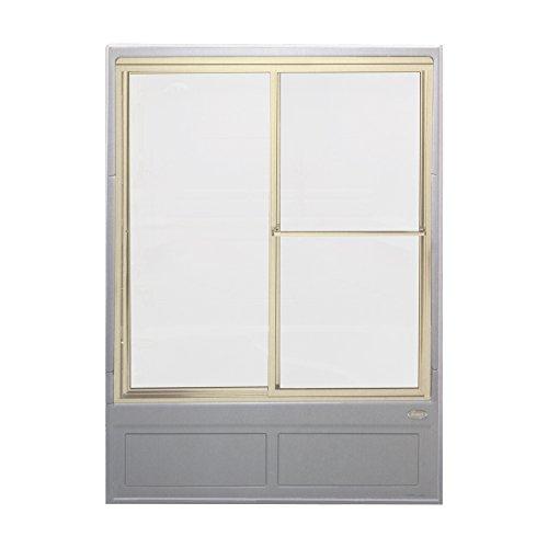 Jacuzzi J925866 Vintage Frosted Glass Shower Steam Enclosure, Adonized Gold Trim (Door Shower Jacuzzi)